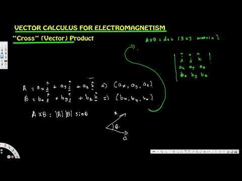 Vector Calculus for Electromagnetism 3 a : Vector Cross Product 1/2 - El...