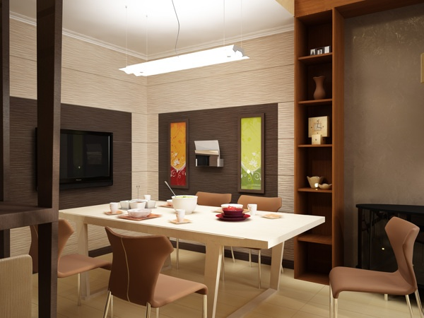 Dining room by Stanislav Torzhkov, via Behance
