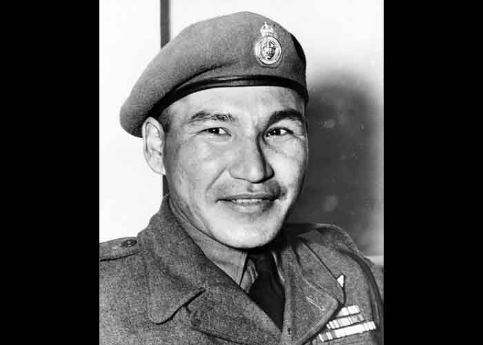 Tommy Prince, Native Canadian, received several medals for his bravery, outstanding soldier