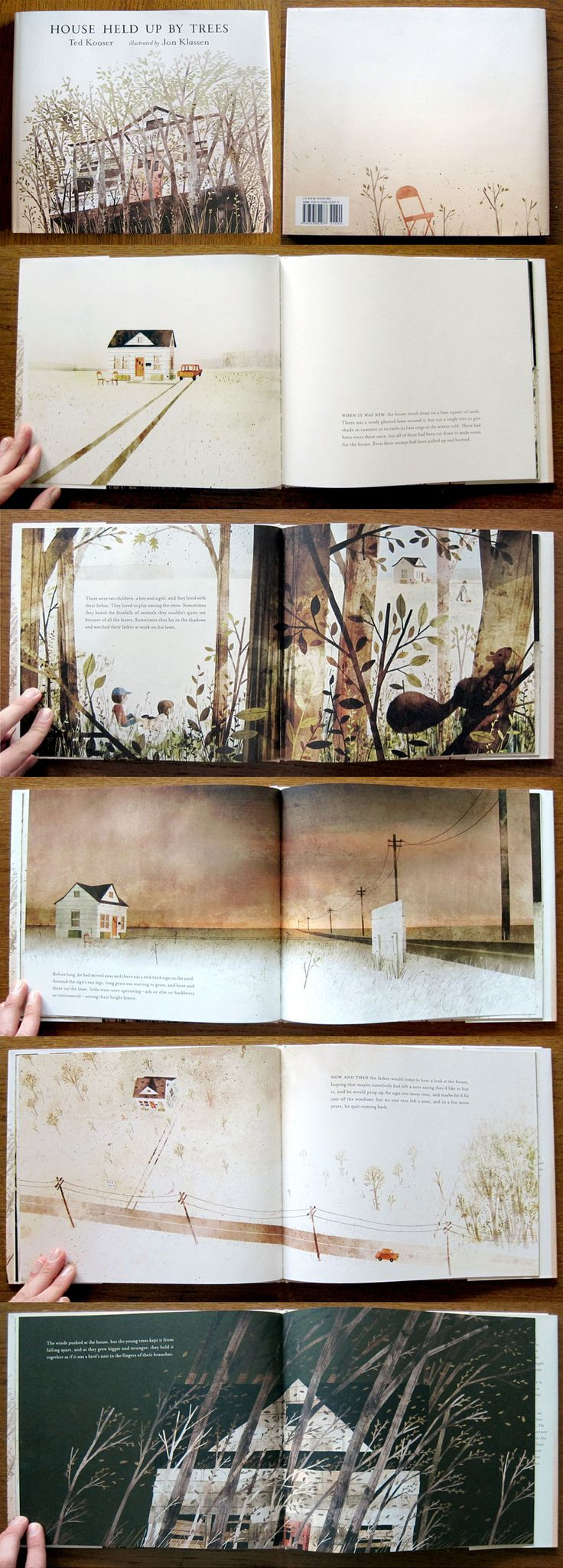 House Held Up By Trees by Ted Kooser, illustrated by Jon Klassen. Candlewick, 2012.