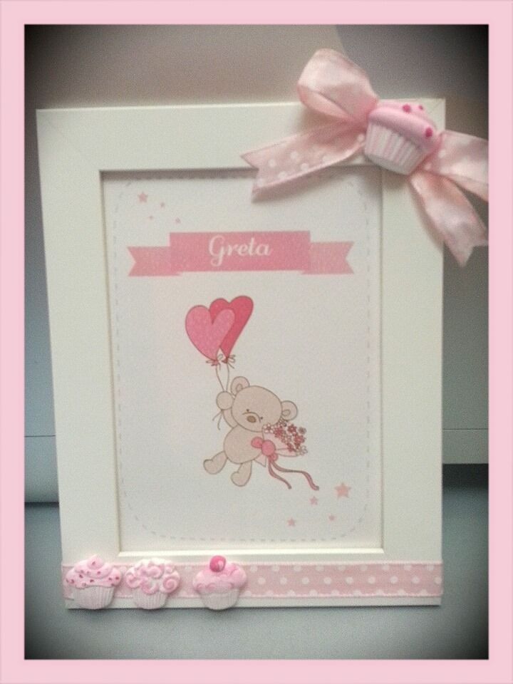 frame baby girl pink officinadelbosco: cornice baby girl