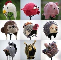 Knitting Patterns Hats Animals : Pattern # 09IP21All Little Animal Patterns (Set of 9)Only PDF emailPrice USD30 ...