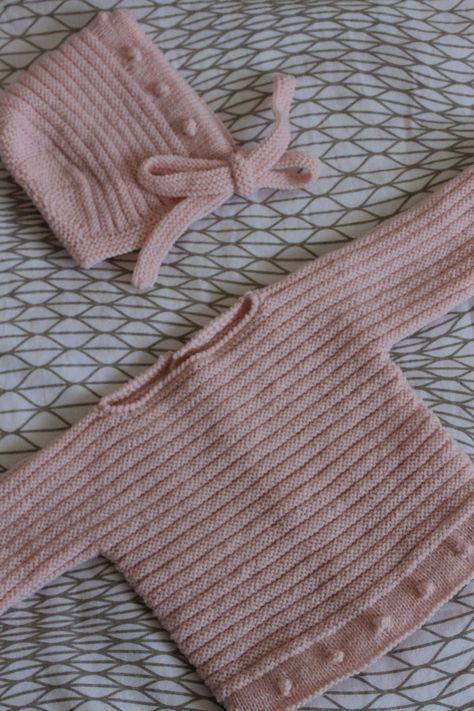 Suéter bebé lanita rosa