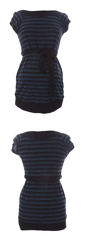 Sweaters 11538: Jules And Jim Maternity Women S Teal Black Striped Belted Sweater J238 Sz M $129 -> BUY IT NOW ONLY: $38.69 on eBay!