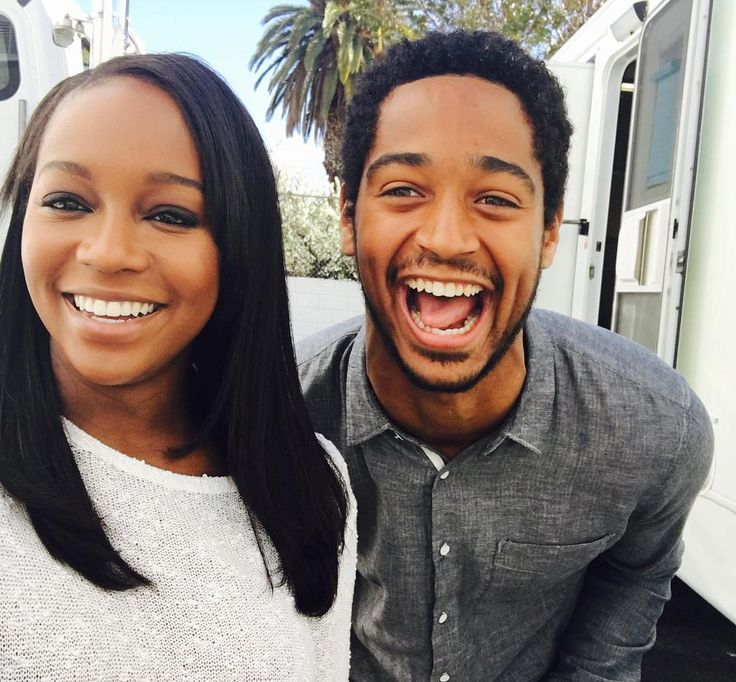 Aja Naomi King and Alfred Enoch - How to Get Away With Murder