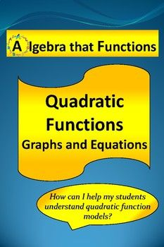 Algebra that Functions Quadratic Functions Graphs Exploration Do you want your students to be able to match quadratic equations to their graphs and identify the roots, zeros, line of symmetry, and vertex? Do you want your students to be able to determine if
