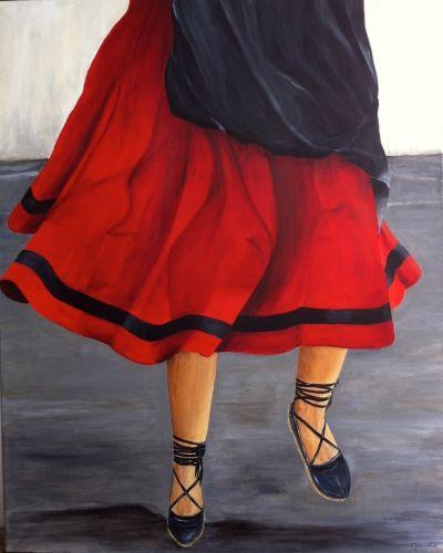 Une danseuse basque au fronton de Sare - Maruka