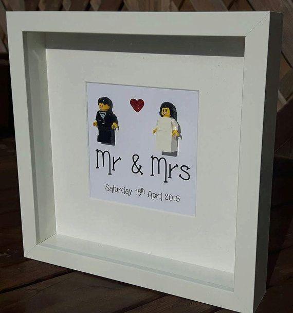 Personalisierte Lego Hochzeit Rahmen von Mrscrazycreations auf Etsy