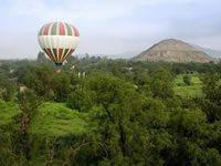 Air Balloon at the Pyramids of Teotihuacan