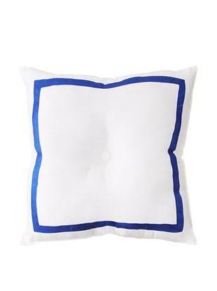 Trina Turk Caprice Pillow, White/Blue