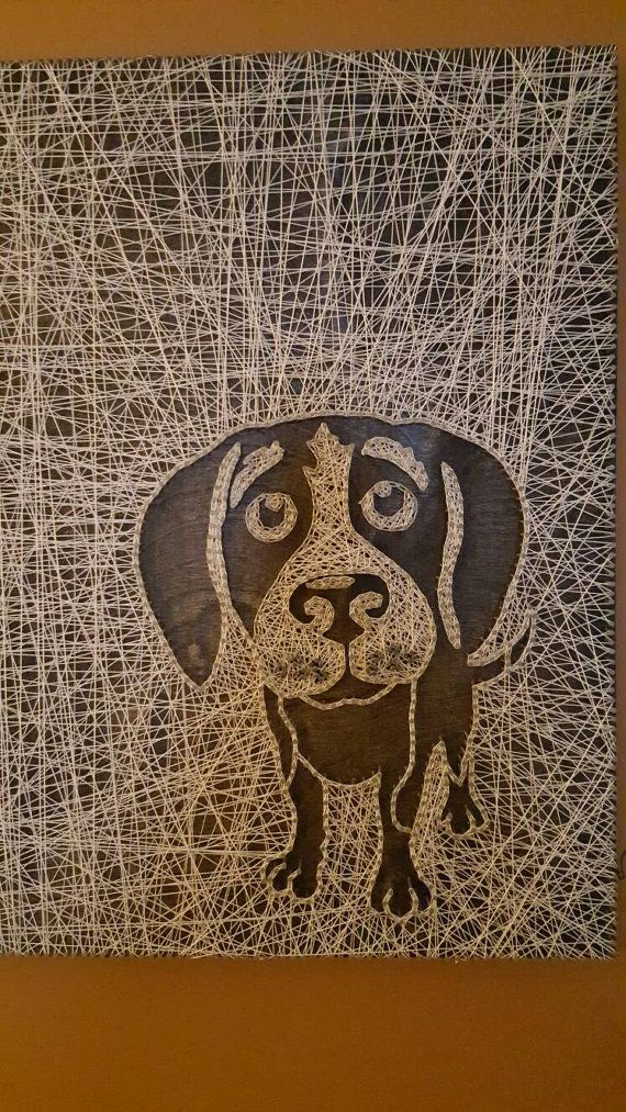 Check out this item in my Etsy shop https://www.etsy.com/listing/457207942/beagle-string-art