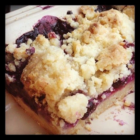Blueberry Crumb Bars <3  www.Cookapp.com