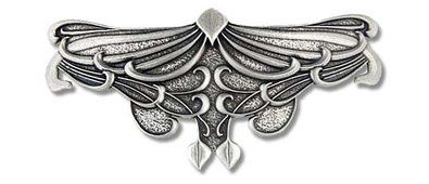 Haarspange Art Nouveau Jugenstil Victorian handgegossen aus englischen Zinn Spangenlänge 80mm