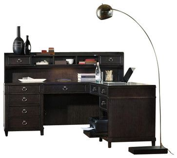 Hooker Furniture Kendrick L Desk transitional-desks-and-hutches