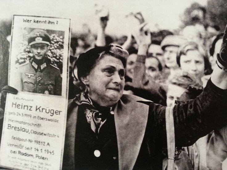 """""""Who knows him?"""", a mother searching for her son in postwar Germany (1945), a sad reality millions experienced throughout and after the war. With World War Two being the biggest most destructive war in the history of man, you can imagine all the inconclusive searches by family everywhere. Most to this day."""
