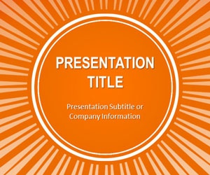 PowerPoint Orange Sunburst Template is a free PowerPoint orange template with radial lines effect that you can download as an abstract PowerPoint slide design for presentations