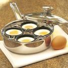 Try the Poached Eggs Recipe on Williams-Sonoma.com.  Here are some awesome variations to try.
