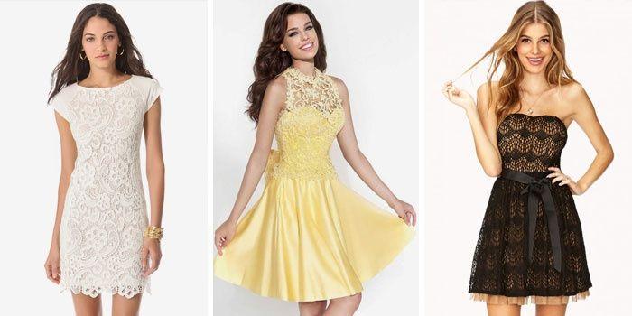 Кружевные коктейльные платья