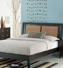 """My next bed will be a platform.  A comfortable """"reading"""" headboard will be a must!  I love the clean lines of this one."""
