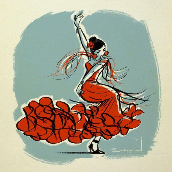 dessin d'une petite danseuse