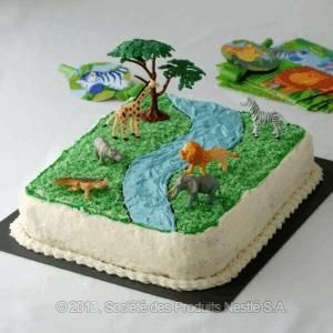 Jungle Cake Recipe(layered sponge cake with simple syrup)