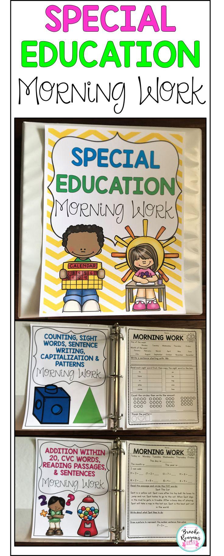 Particular Schooling Morning Work
