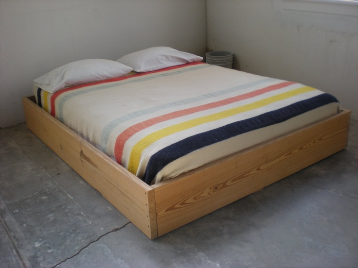 Donald Judd bed and Pendleton blanket