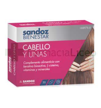 SANDOZ BIENESTAR CABELLO Y UÑAS 30 CAPS
