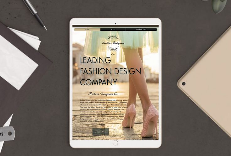 Responsive Website Design -  GET over $120s+ OFF your Website Design Order when you sign up to our Monthly Newsletter.    Latest Fashion Designer Website, designed by Write Marketing Corp.   To see the website presented here live please visit http://fashiondesignersco.com