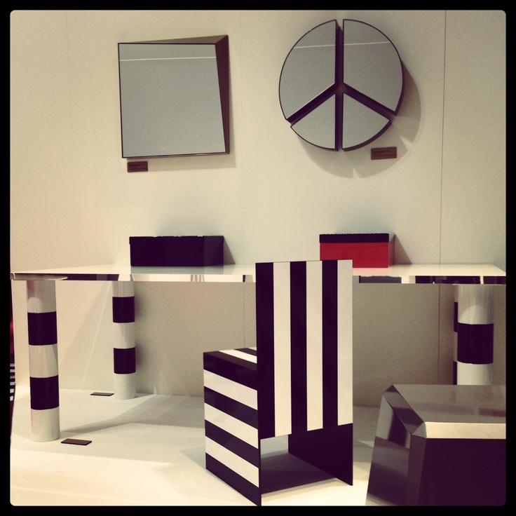 #simbolo line, design Garilab by Piter Perbellini for #altreforme @iSaloni 2013 #interior #home #decor #homedecor #furniture #aluminium #blackandwhite