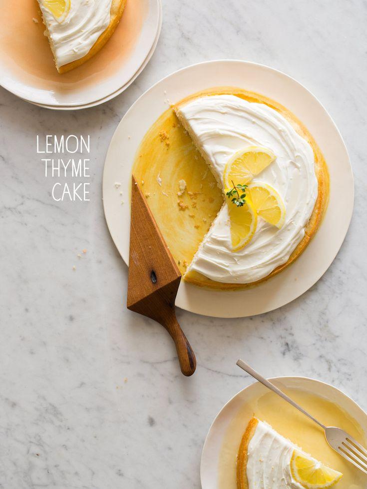 Lemon Thyme Cake - spoon fork bacon