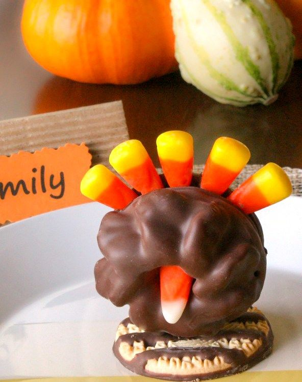 cookie and candy corn turkeys