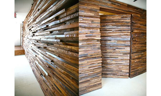 John Houshmand Stacked Wood Wall Spaces Amp Things For