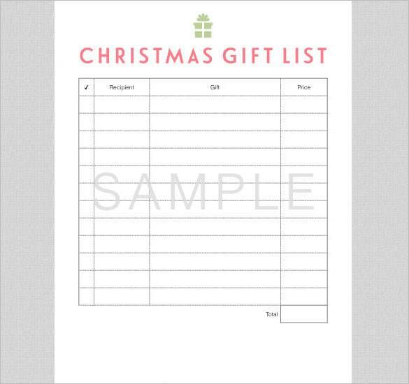 christmas wish list template pdf