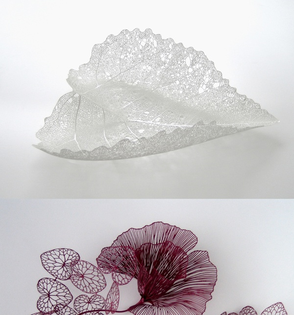 Finnish Design - Maria Jauhiainen's intricate and beautiful metalwork. leaf and flower