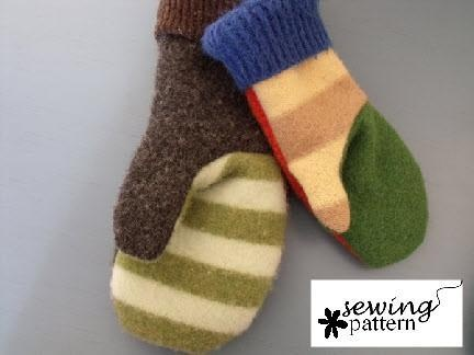 Wool sweater mittens - going to make these this winter for a fun ...
