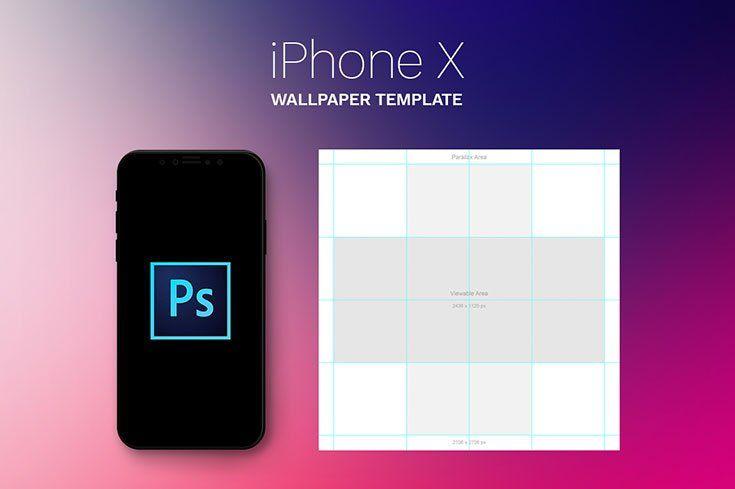 Free Iphone X Parallax Wallpaper Template Free Iphone Iphone Templates Iphone x wallpaper template psd