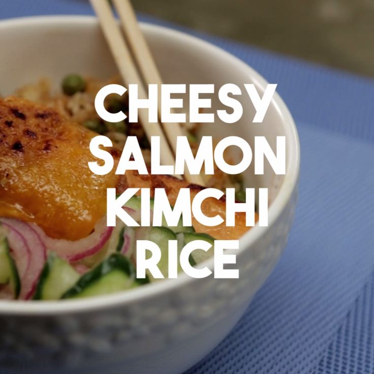 Salmon, cheese, rice, vegetables: everything you could want in a bowl.