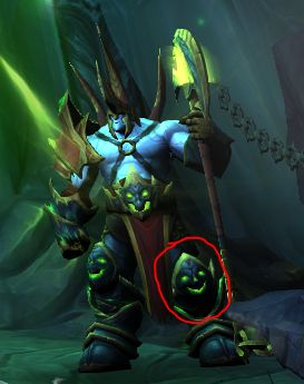 The shin guard of the Fel Lord on the login page looks like a smiley face. #worldofwarcraft #blizzard #Hearthstone #wow #Warcraft #BlizzardCS #gaming