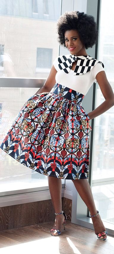 Akiva Ankara African Print Skirt. Evening and party skirt. Made of 100% cotton Ankara African wax fabric. Modern African skirt style.   Ankara | Dutch wax | Kente | Kitenge | Dashiki | African print bomber jacket | African fashion | Ankara bomber jacket | African prints | Nigerian style | Ghanaian fashion | Senegal fashion | Kenya fashion | Nigerian fashion | Ankara crop top (affiliate)