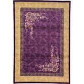Found it at Wayfair - Versailles Purple Area Rug