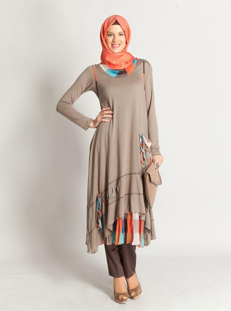 2012 tesettur elbise ve tunikler 8