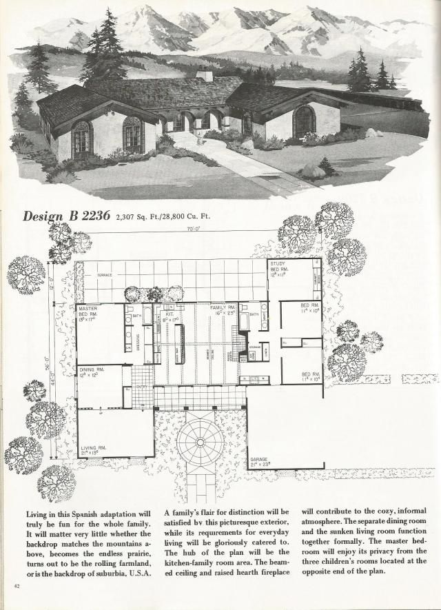 Vintage House Plans, Spanish Style Homes-1976