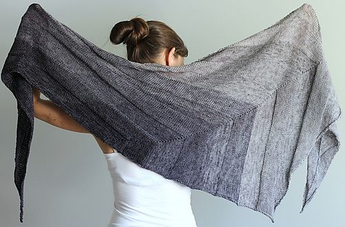 Ravelry: everyday shawl pattern by Jenny Faifel