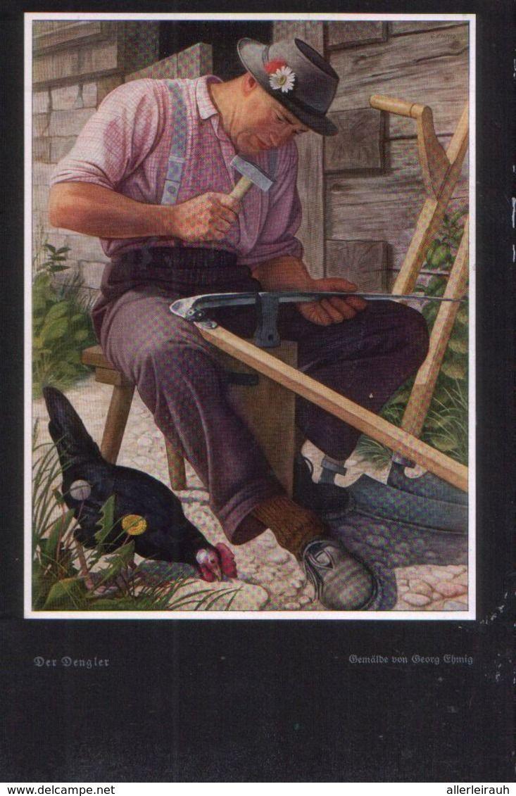 Der Dengler Nach Einem Gemalde Von Georg Emich Druck Entnommen Aus Zeitschrift 1937 Zu Verkaufen Auf Delcampe Einfache Gemalde Gemalde Drucken