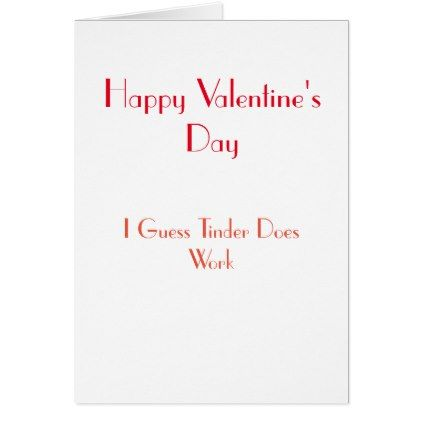 Happy Valentine's Day Tinder Card - valentines day gifts gift idea diy customize special couple love