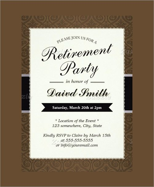Free Retirement Party Invitation Templates For Word Template