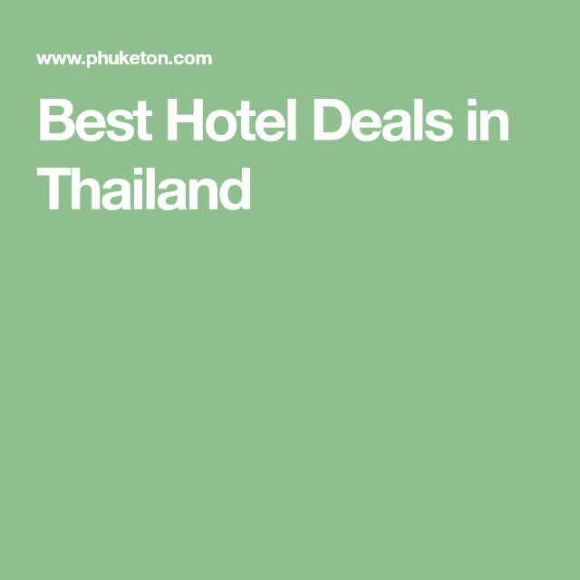 Best Hotel Deals in Thailand