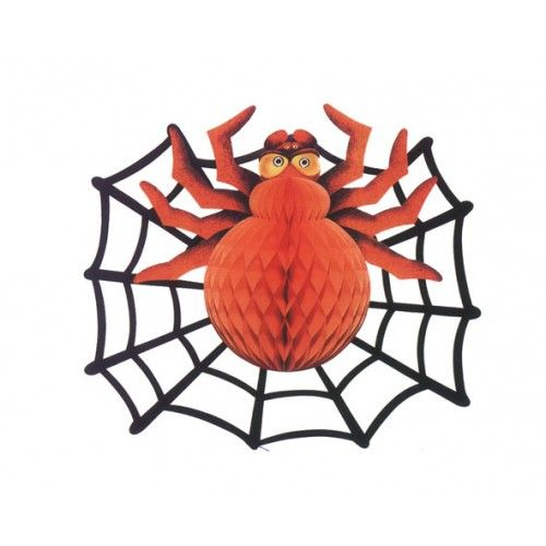 Spider & Spiderweb Decoration 36x46cms