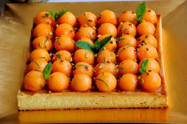 Joliment partage par Céline: Tarte au Melon et Muscat de Rivesaltes